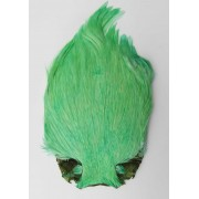 MDI Fly Tyers Quality Dyed Green Cock Cape