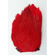 MDI Fly Tyers Quality Dyed Red Cock Cape