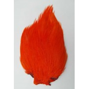 MDI Fly Tyers Quality Dyed Orange Cock Cape