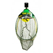 Dinsmores Rigid Oval Easi-Flo Super Soft Green Mesh Landing Net 18in