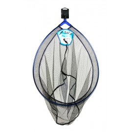 Dinsmores Carp Match Lightweight Rigid Blue Anodised Alloy Oval Landing Net 24in (60cm)