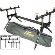 Dinsmores Deluxe Carp Syndicate Goal Post Fishing Rod Pod With Buzz Bars & Carry Case