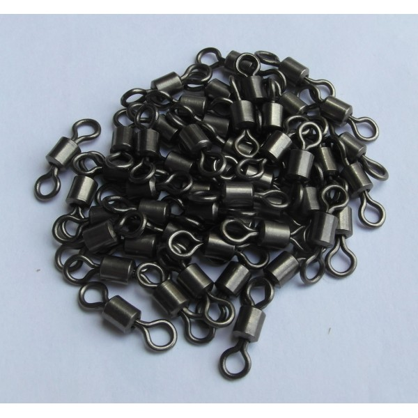 MDI Carp Pack of 20 Black Swivels Size 8 for Carp Fishing (Korda, Fox, Nash Compatible)